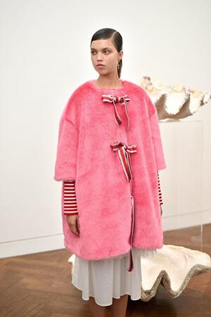 Mandatory Credit: Photo by Nick Harvey/REX/Shutterstock (5898669s) Model Shrimps presentation, Spring Summer 2017, London Fashion Week, UK - 16 Sep 2016