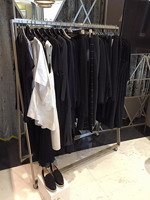Rail of clothes preselected for the shoot by Chantelle. Huge thanks to House of Fraser, Karen Millen and Debenhams!
