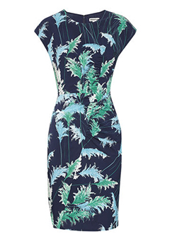 Whistles Pampus Print Bodycon Dress.