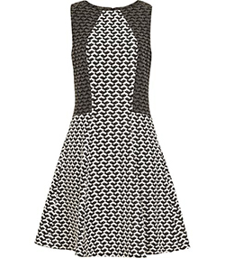 Reiss ELIZA TEXTURED PRINT DRESS.
